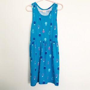 Gymboree Girls S(5-6) Blue Pineapple Dress